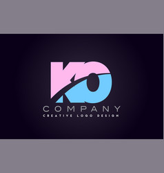ko alphabet letter join joined letter logo design vector image