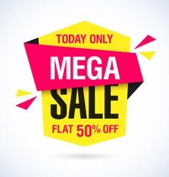 Mega sale banner vector