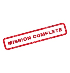 Mission complete text rubber stamp vector