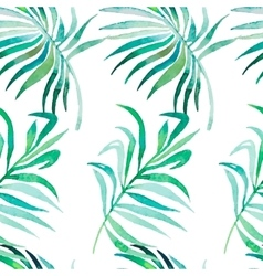 Palm leaves pattern seamless tropical pattern vector