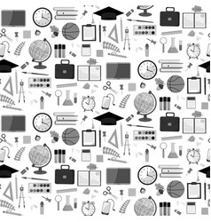 seamless school pattern on a white background vector image vector image