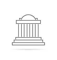 thin line greek colonnade with shadow vector image vector image