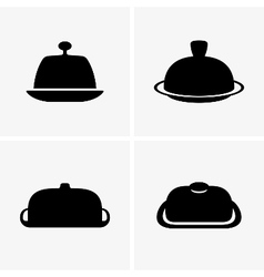 Butter dishes vector
