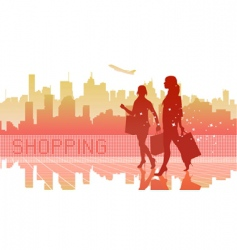 Abstract shopping vector