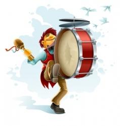 Street musician  vector