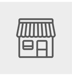 Store stall thin line icon vector