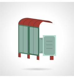 Bus station flat icon vector