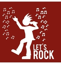 Hard rock design vector