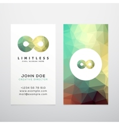 Abstract limitless infinity symbol icon or vector