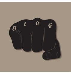 Blog fist vector