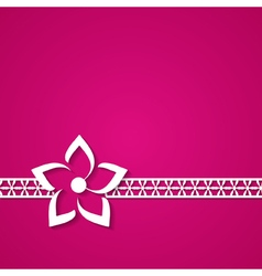 Pink floral background vector