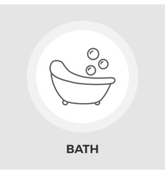 Bath flat icon vector