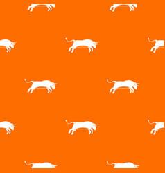 bull pattern seamless vector image vector image