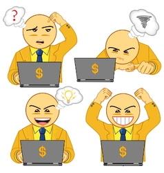 businessman symbol 02 vector image vector image