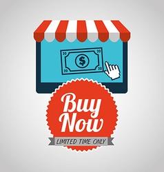 Buy now design vector