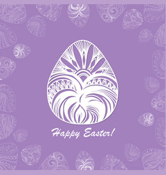 card of easter with graphic eggs vector image vector image