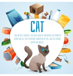 Cat stuff set vector