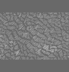 chaotic hatching in the style of doodle for vector image vector image