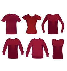 collection woman clothes vector image vector image