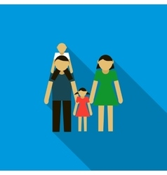 Family icon in flat style vector image vector image