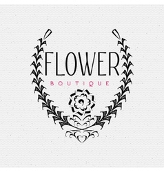Flower boutique insignia and labels for any use vector