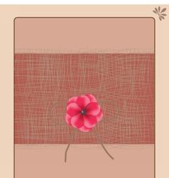 Handmade Vintage Greeting card vector image