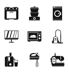 Home electronics icons set simple style vector