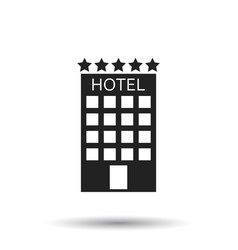 Hotel icon on isolated background simple flat vector