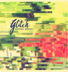 Image glitch or data error background vector