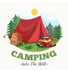 Into The Wild Background vector image