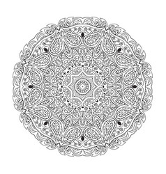 Mandala eastern pattern zentangl round coloring vector