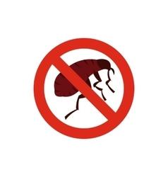 No flea icon in flat style vector