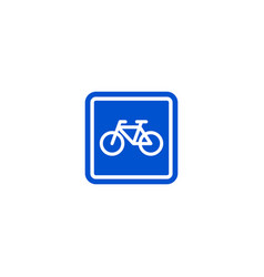 parking bicycle roadsign isolated vector image vector image