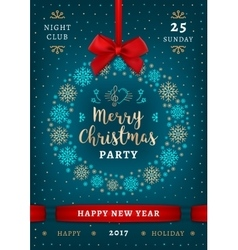 Poster christmas and happy new year holiday party vector