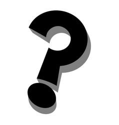 question mark cartoon icon vector image
