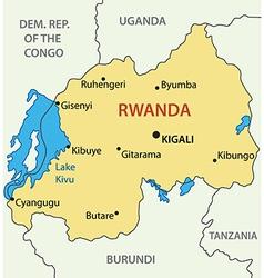 Republic of rwanda - map vector