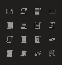 Scrolls and papers - flat icons vector
