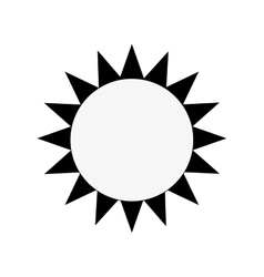 single sun icon vector image