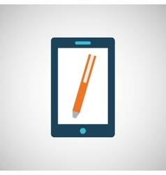 smartphone digital with pen design isolated vector image