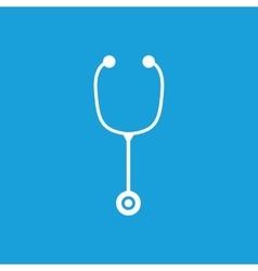 Stethoscope icon 2 white vector