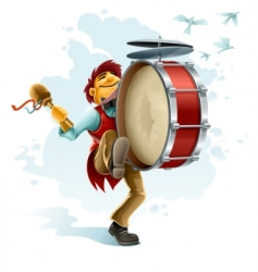 street musician vector image