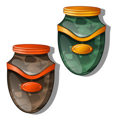 Urn for ashes isolated vector