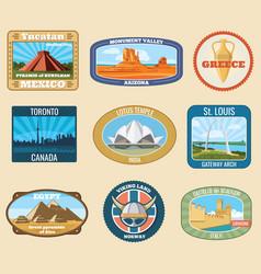 World famous international landmarks vector