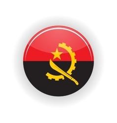 Angola icon circle vector image