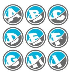 Swoosh Alphabet Logo Icons Set 1 vector image