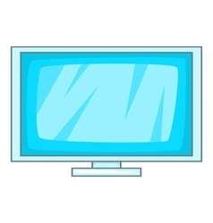Computer display icon cartoon style vector image