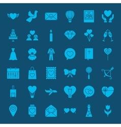 Love web glyphs icons vector