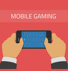mobile gaming vector image