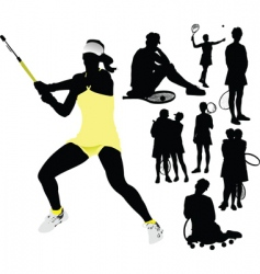 Woman tennis vector