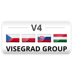 V4 visegrad group country flag vector